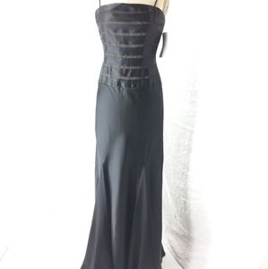 Adriana Papell black silk dress NWT sz 4